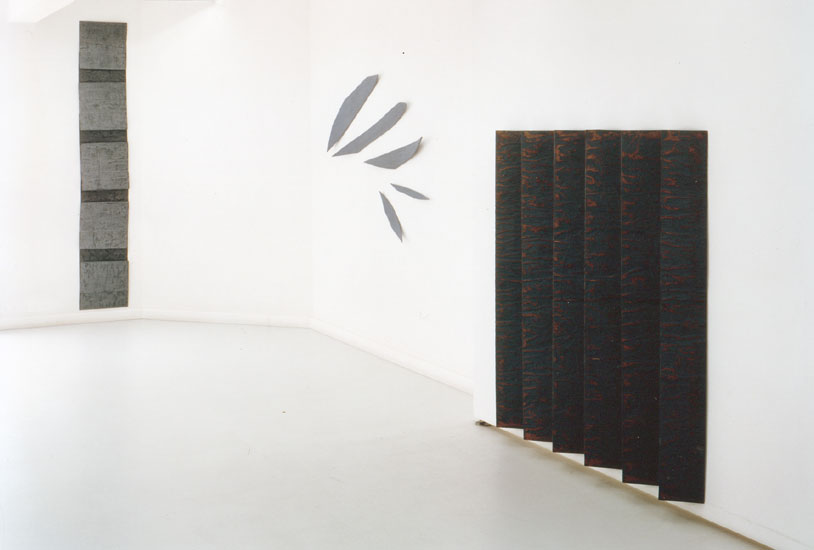 paperfacts 1993, Installationsfoto, Galerie Holzwarth Stuttgart